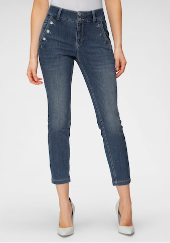 MAC Ankle-Jeans »Dream Slim Button«, Dekorative Knöpfe in der Front geben den neuen Look kaufen