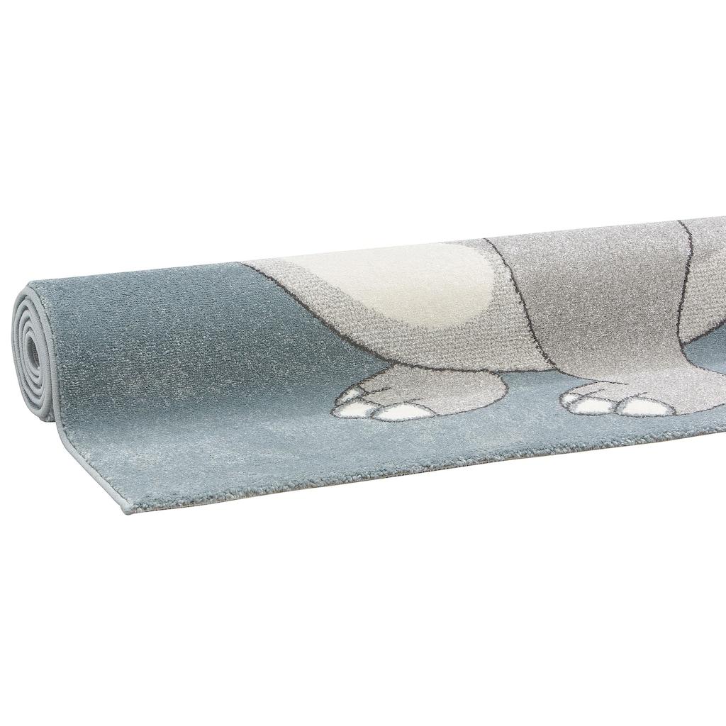 Lüttenhütt Kinderteppich »Dino«, rechteckig, 13 mm Höhe