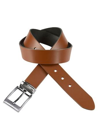 J.Jayz Ledergürtel, mit doppelter Metallschlaufe, Coated Leather, Schliessenset... kaufen