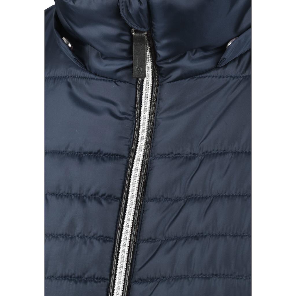 Blendshe Steppmantel »Sabia«, Mantel mit abnehmbarer Kapuze und Kunstfellkragen