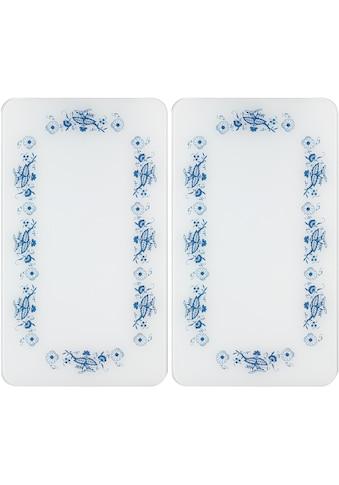 "WENKO Herd - Abdeckplatte ""Universal Blaue Rankblüten"", Glas Kunststoff, (Set) kaufen"