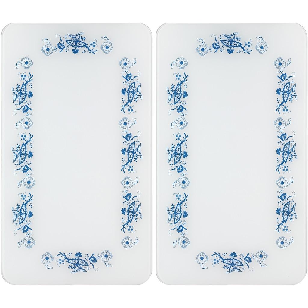 WENKO Herd-Abdeckplatte »Universal Blaue Rankblüten«