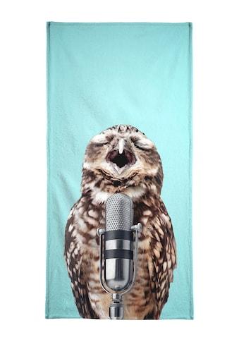 """Handtuch """"Owl Mic"""", Juniqe kaufen"""