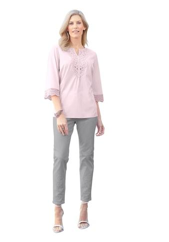 Classic Basics Tunika mit zarter Spitze am Ausschnitt kaufen