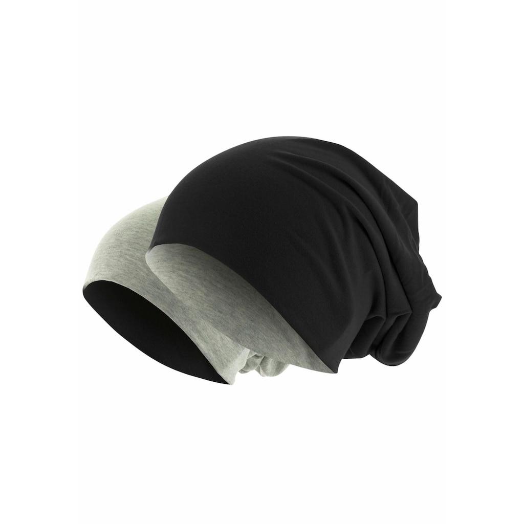 MSTRDS Beanie, Oversize Mütze zum Wenden
