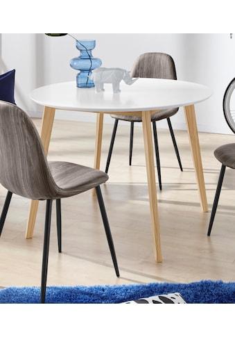 INOSIGN Esstisch »Cody«, mit Beinen aus massiver Kiefer, runde MDF-Tischplatte, in 2 verschiedenen Farbvarianten kaufen