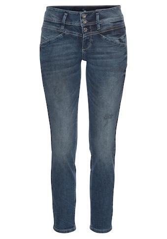 TOM TAILOR Slim-fit-Jeans »Alexa Slim«, mit versetzten Nachtdetails kaufen