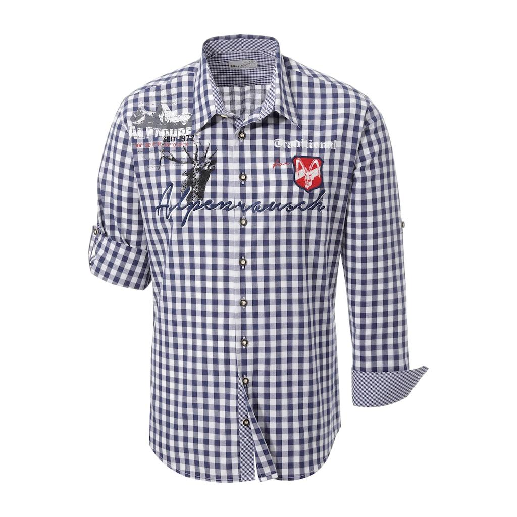 MarJo Trachtenhemd, mit Aufdruck und Applikation