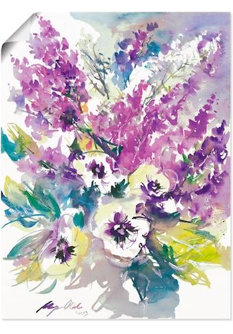 Artland Wandbild »Blumenstrauss III«, Blumen, (1 St.), in vielen Grössen & Produktarten - Alubild / Outdoorbild für den Aussenbereich, Leinwandbild, Poster, Wandaufkleber / Wandtattoo auch für Badezimmer geeignet kaufen