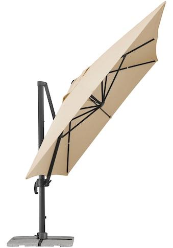 Schneider Schirme Ampelschirm »Rhodos Grande«, 300 x 400 cm, natur, rechteckig, ohne Wegeplatten kaufen