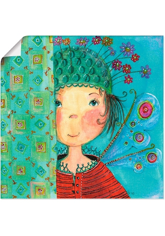 Artland Wandbild »Engelchen versteckt sich«, Kinder, (1 St.), in vielen Grössen & Produktarten -Leinwandbild, Poster, Wandaufkleber / Wandtattoo auch für Badezimmer geeignet kaufen