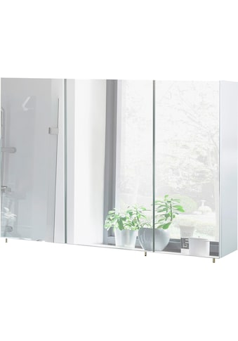 Schildmeyer Spiegelschrank »Basic«, Breite 120 cm, 3-türig, Glaseinlegeböden, Made in Germany kaufen
