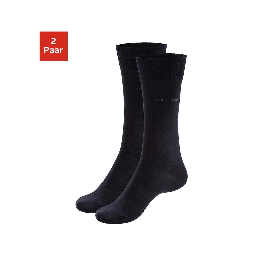 Boss Socken »2P RS Uni«, (2 Paar), mit gerippten Bündchen