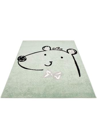 Carpet City Kinderteppich »Bubble Kids 1333«, rechteckig, 11 mm Höhe, Teddybär, Kurzflor kaufen