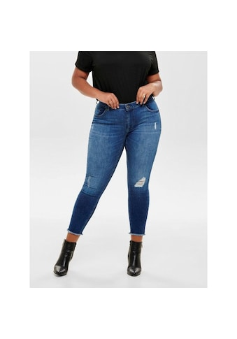 ONLY CARMAKOMA Skinny-fit-Jeans »Willy«, mit Fransensaum kaufen
