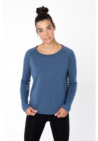 SUPER.NATURAL Sweatshirt »W ESSENTIAL CREW«, atmungsaktiver Merino-Materialmix kaufen