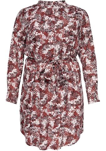 ONLY CARMAKOMA Blusenkleid, Mit Bindegürtel und Knopf kaufen