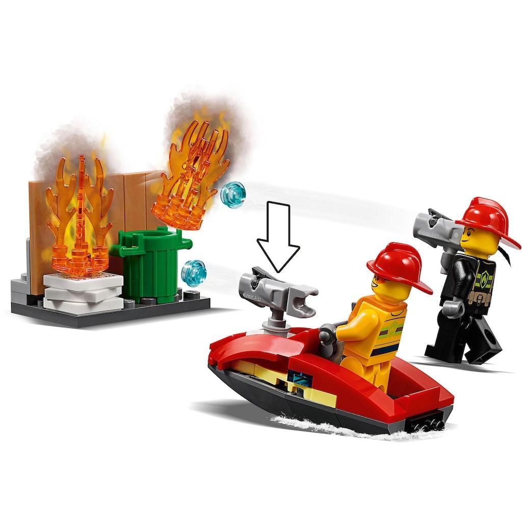"""LEGO® Konstruktionsspielsteine """"Feuerwehr-Station (60215), LEGO® City"""", Kunststoff, (509-tlg.)"""