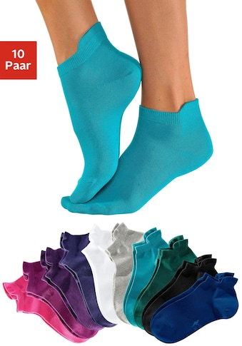 KangaROOS Sneakersocken, (10 Paar), mit erhöhtem Bündchen kaufen