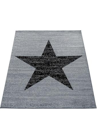 Paco Home Teppich »Fiesta 116«, rechteckig, 12 mm Höhe, Kurzflor mit Stern Motiv, Wohnzimmer kaufen