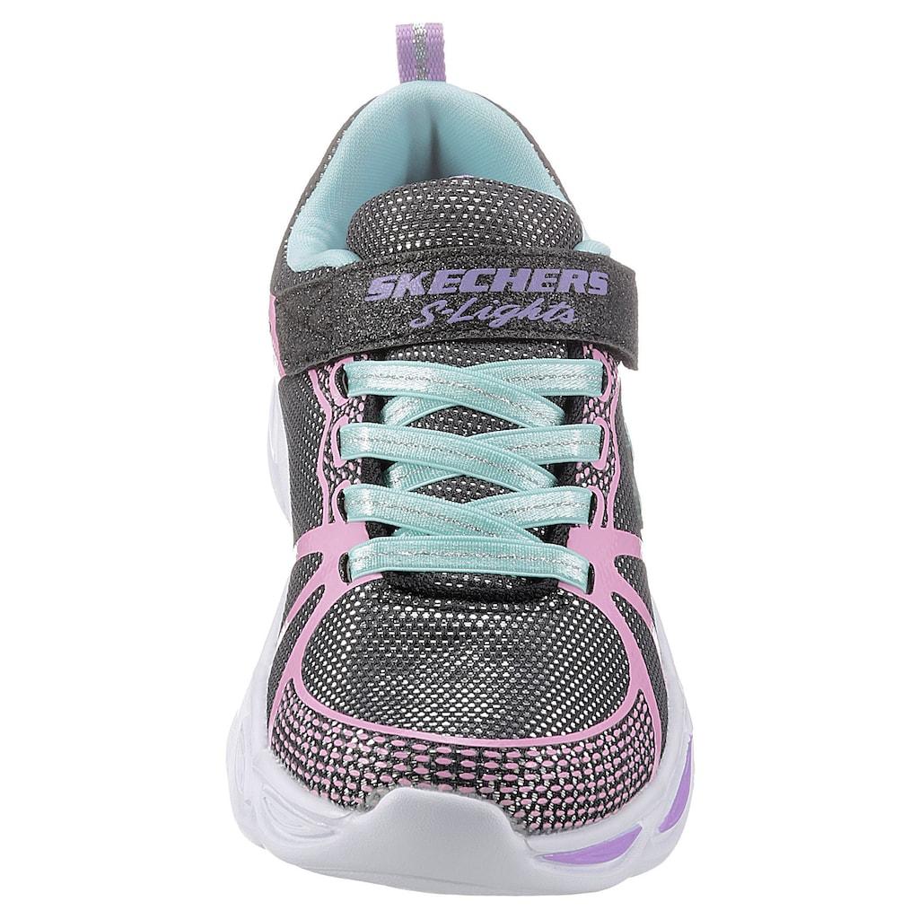 Skechers Kids Sneaker »Blinkschuh Shimmer Beams«, mit praktischem Klettverschluss