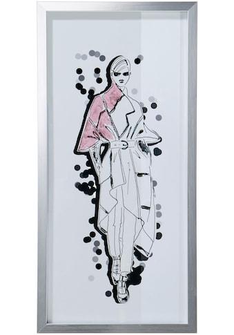 Guido Maria Kretschmer Home&Living Bild »Mode - Skizze«, mit silberfarbennem Rahmen, 23/50 cm kaufen