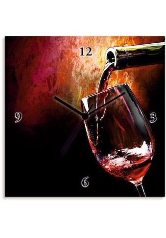 Artland Wanduhr »Wein - Rotwein« kaufen