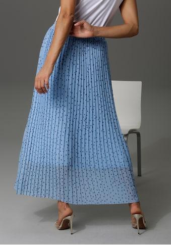 Aniston CASUAL Plisseerock, mit Punkten bedruckt - NEUE KOLLEKTION kaufen