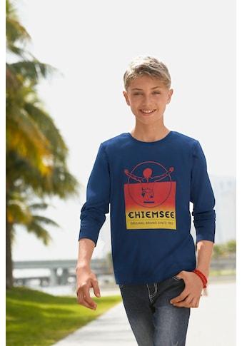 Chiemsee Langarmshirt, mit zweifarbigem Druck kaufen
