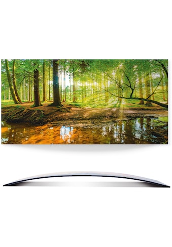 Artland Wandbild »Wald mit Bach«, Wald, (1 St.), in vielen Grössen & Produktarten - Alubild / Outdoorbild für den Aussenbereich, Leinwandbild, Poster, Wandaufkleber / Wandtattoo auch für Badezimmer geeignet kaufen