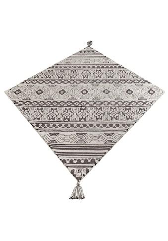 Home affaire Collection Teppich »Jukka«, rechteckig, 15 mm Höhe, besondere Form mit Troddel, Wohnzimmer kaufen
