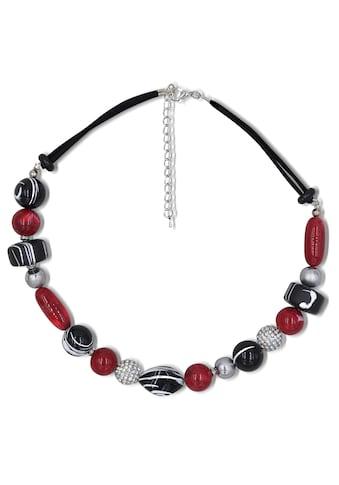 J.Jayz Collier »teilweise mehrreihig, rot, schwarz« kaufen