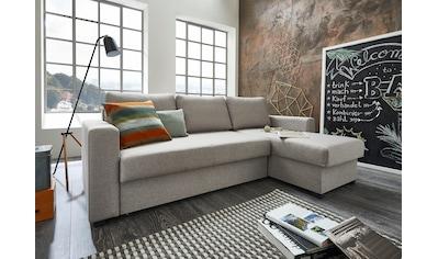 ATLANTIC home collection Ecksofa, mit Bettfunktion und Bettkasten, Recamiere links oder rechts montierbar, inklusive Federkern kaufen