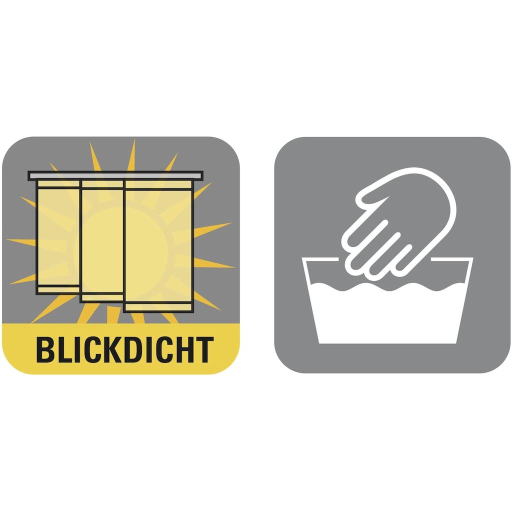 GARDINIA Schiebegardine »Flächenvorhang Stoff Uni mit silberfarbennen Paneelwagen«