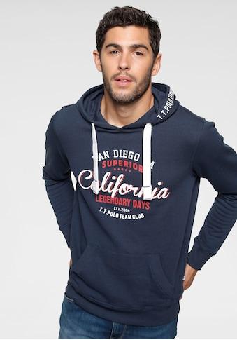 TOM TAILOR Polo Team Sweatshirt, mit Print an der Kapuze kaufen