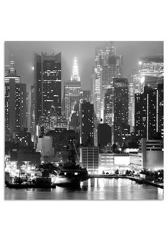 Places of Style Metallbild »New York by night«, 50/50 cm kaufen