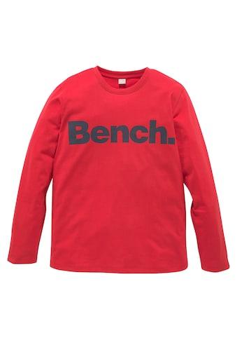 Bench. Langarmshirt, in melierter Optik kaufen