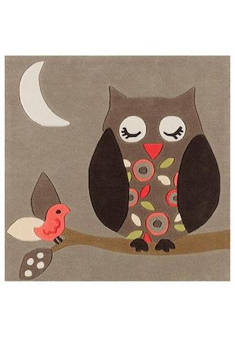 Arte Espina Kinderteppich »Joy 4190«, quadratisch, 11 mm Höhe, harmonisches Eulen Design, Kurzflor kaufen