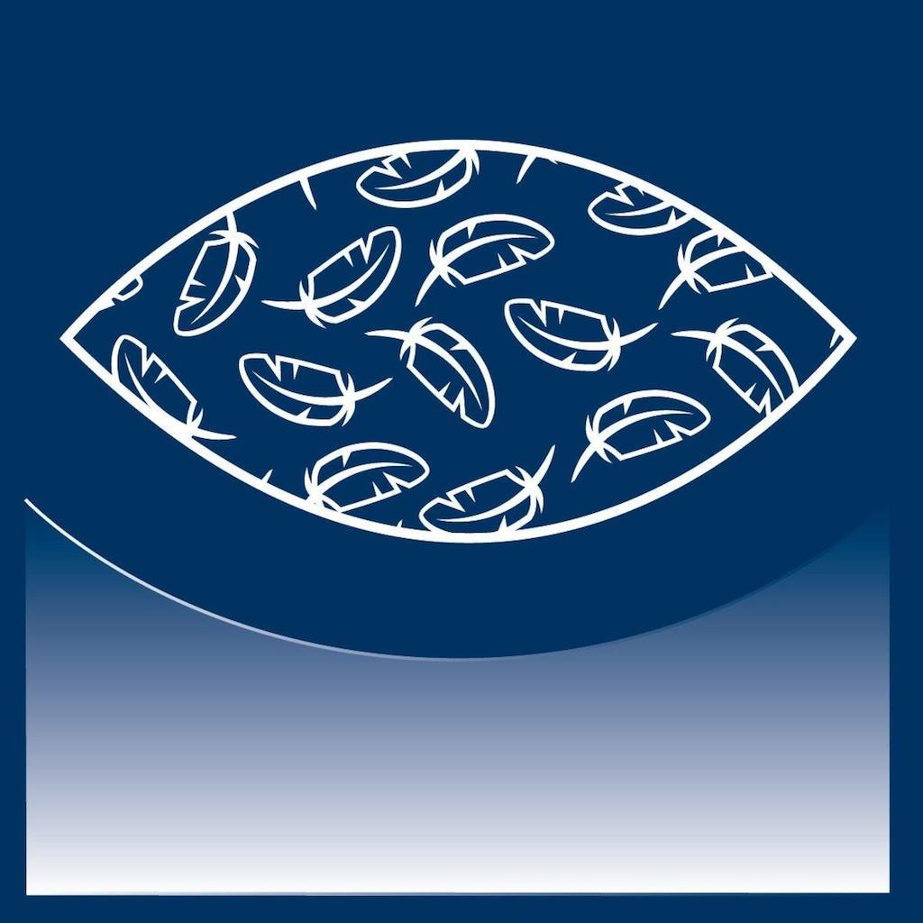 billerbeck Federkopfkissen »Jerry«, Füllung: 100% neue, reine Gänsefederchen, weiss; kein Lebendrupf, Bezug: 100% Baumwolle, (1 St.)