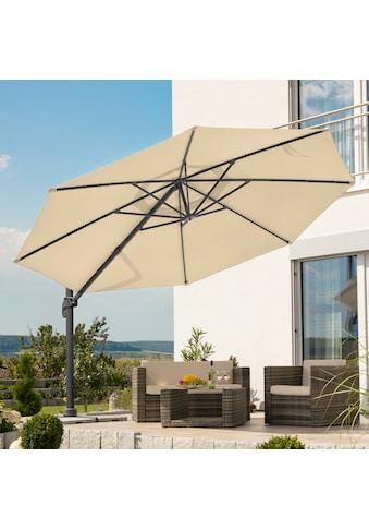 Schneider Schirme Ampelschirm »Rhodos Grande«, Durchmesser 400 cm, natur, rund, ohne Wegeplatten kaufen