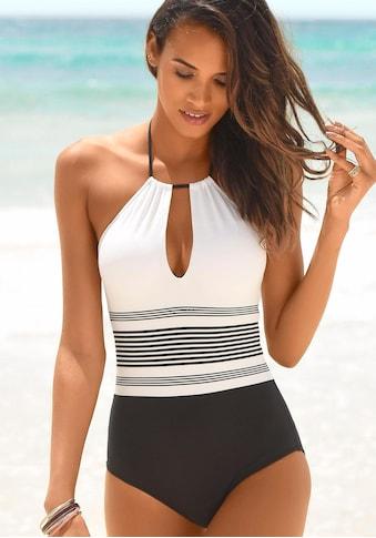 JETTE Badeanzug, mit platzierten Streifen kaufen