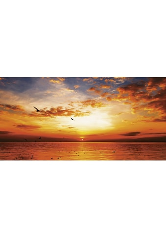 Home affaire Leinwandbild »Songchai W: Sonnenuntergang am Strand mit Himmel«, 100/50 cm kaufen
