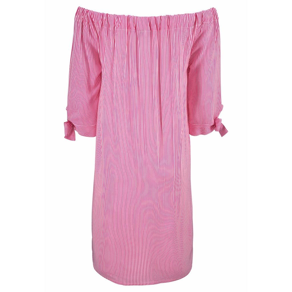 LASCANA Blusenkleid, mit Streifendruck