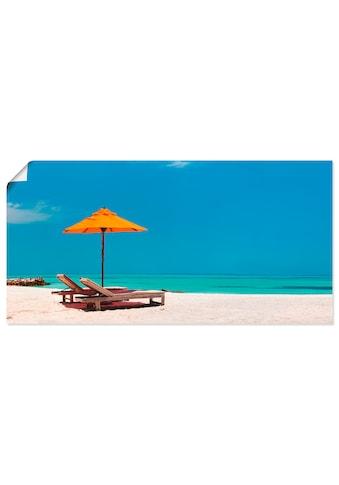 Artland Wandbild »Liegestuhl Sonnenschirm Strand Malediven« kaufen