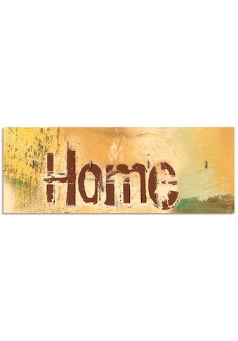 Artland Schlüsselbrett »Willkommen in unserem Zuhause«, aus Holz mit 4 Schlüsselhaken... kaufen