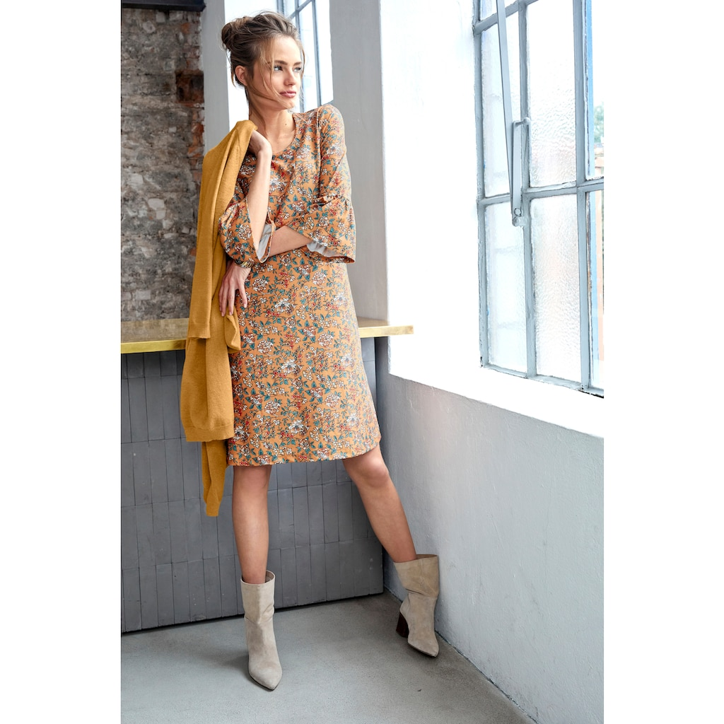 Aniston CASUAL Jerseykleid, mit floralem Blumendruck