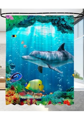 Sanilo Duschvorhang »Delphin Korallen«, Breite 180 cm, Höhe 200 cm kaufen