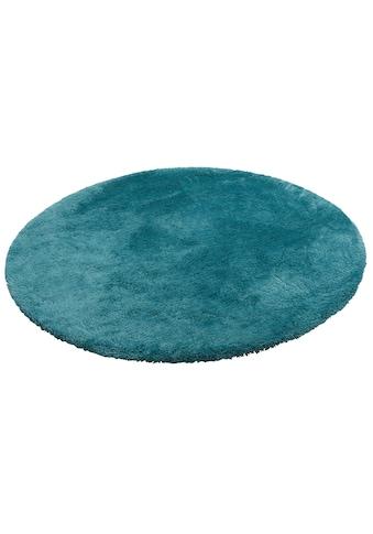 my home Hochflor-Teppich »Magong«, rund, 25 mm Höhe, Besonders weich durch Microfaser, Wohnzimmer kaufen