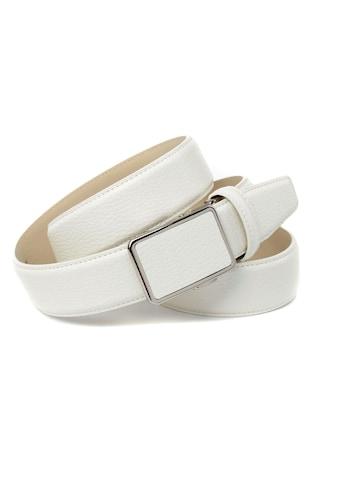 Anthoni Crown Ledergürtel, mit tonalem Stitching, leicht bombiert kaufen