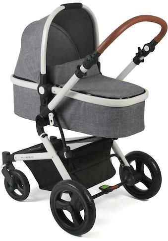 CHIC4BABY Kombi-Kinderwagen »Passo, Melange Grau«, 15 kg, ; Kinderwagen kaufen